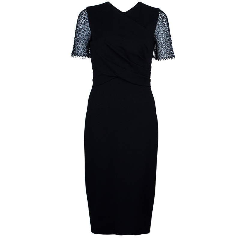 Jason Wu Black Lace-Detail Dress M