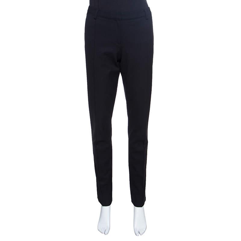 Jason Wu Black Wool Tailored Trousers M