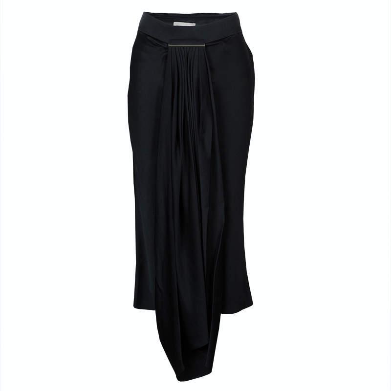 Jason Wu Black Pleated Front Midi Skirt M