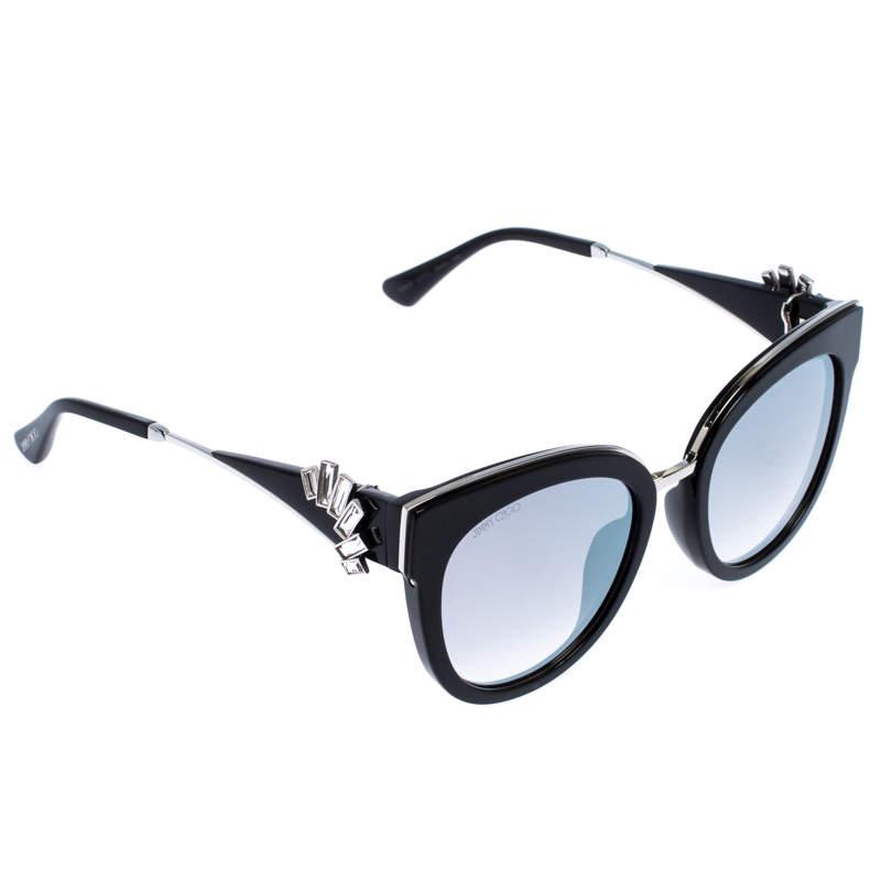 Jimmy Choo Black/Silver Jade Mirror Sunglasses