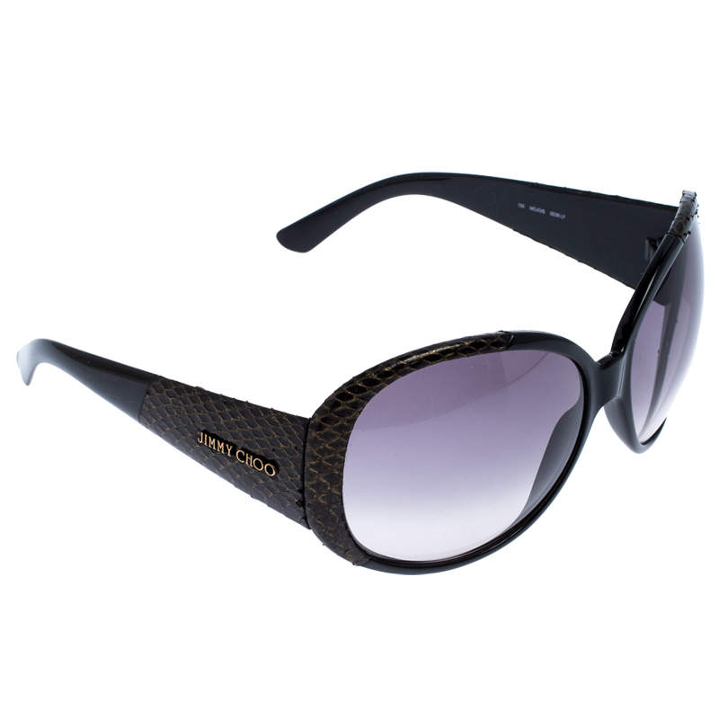 Jimmy Choo MOJO/S Snakeskin Oversized Sunglasses