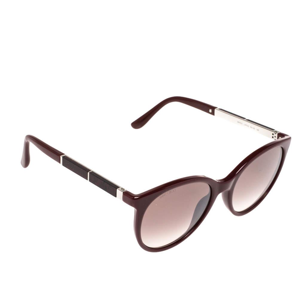 Jimmy Choo Burgundy Opal /Burgundy Gradient ERIE/S Round Sunglasses