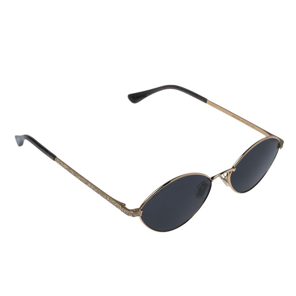 Jimmy Choo Gold Shimmer Inlay/ Grey Sonny/S Cat Eye Sunglasses