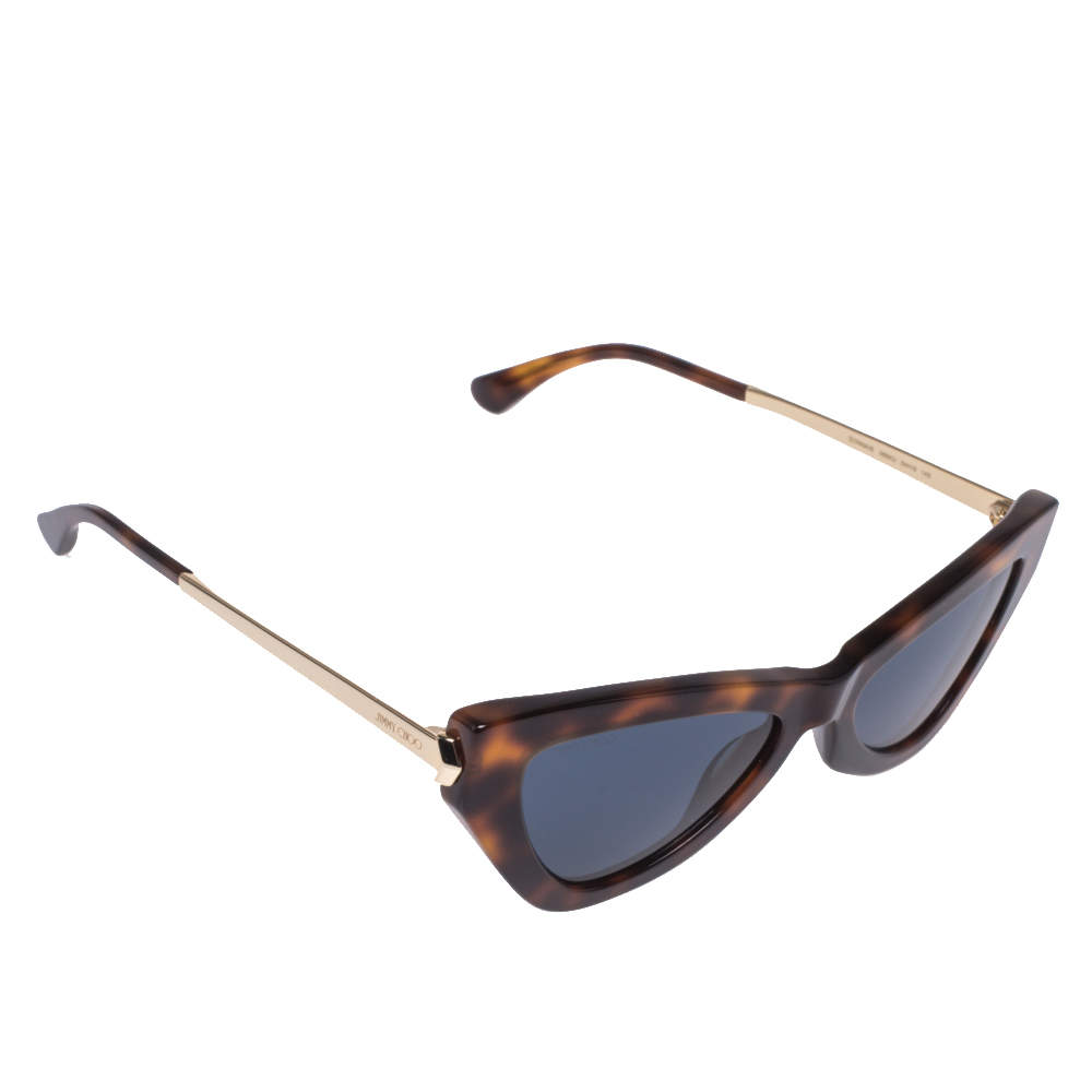 Jimmy Choo Brown/Blue Tortoise Donna Cat Eye Sunglasses