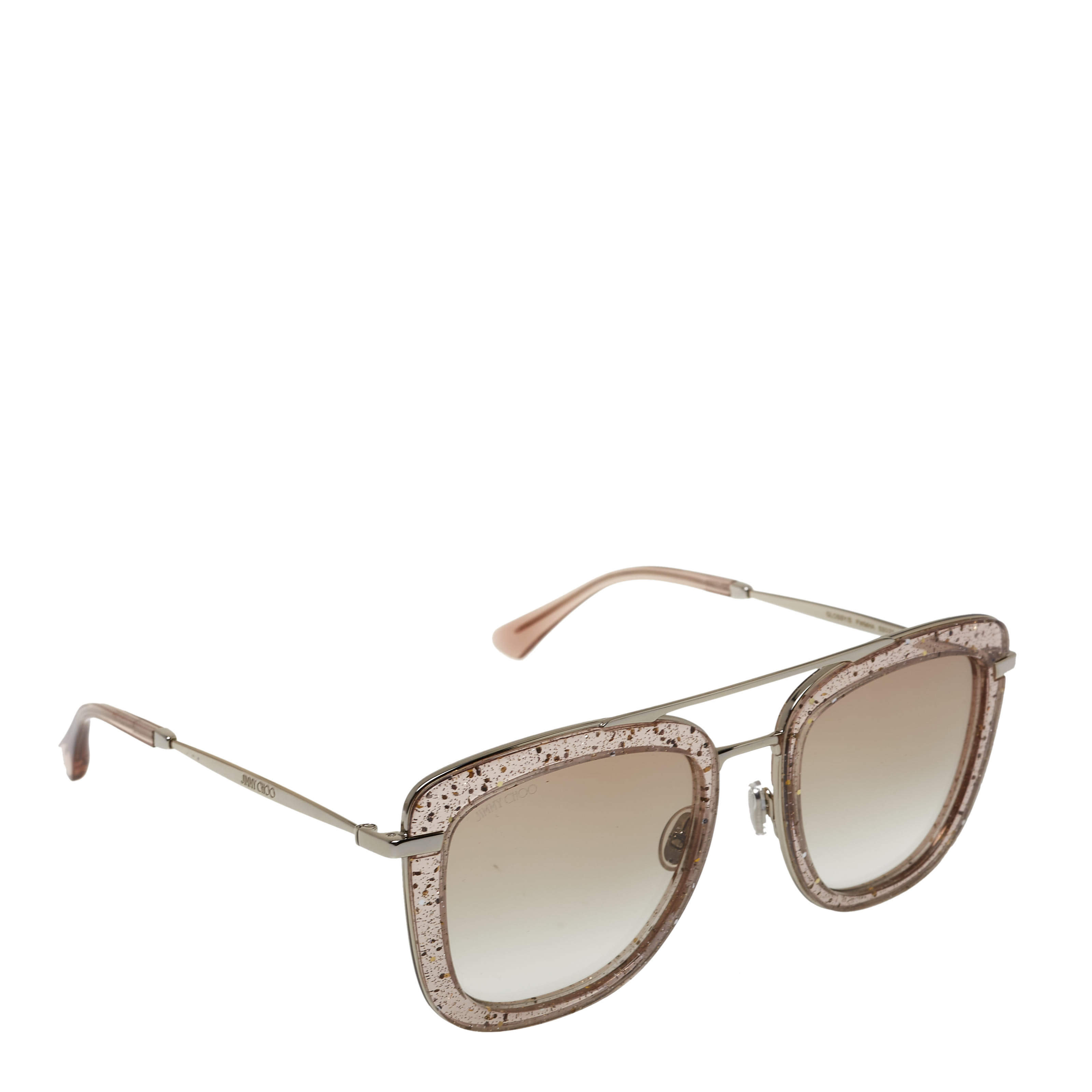 Jimmy Choo Pink/Silver Gradient Glossy/S Square Sunglasses