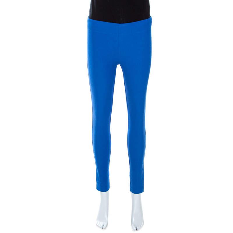 Joseph Blue Stretch Gabardine Leggings S