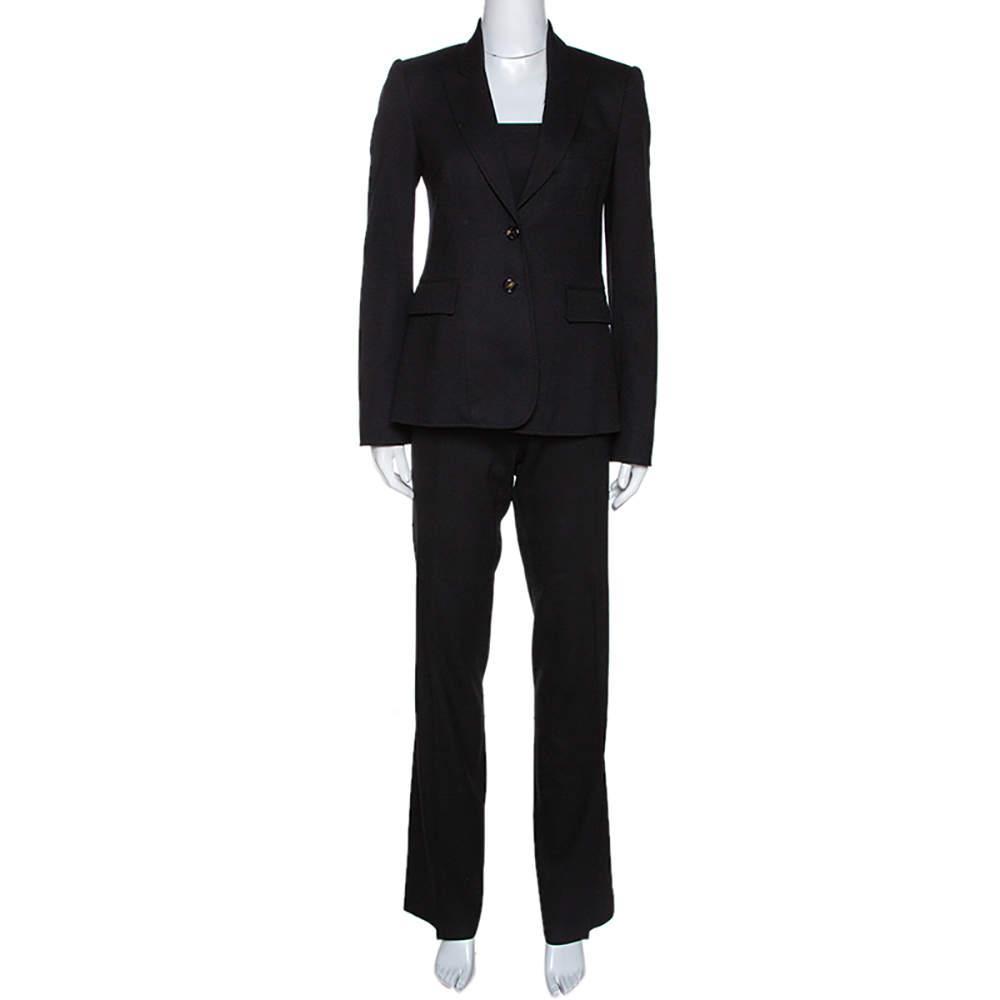 Joseph Black Wool Tailored Pant Suit S