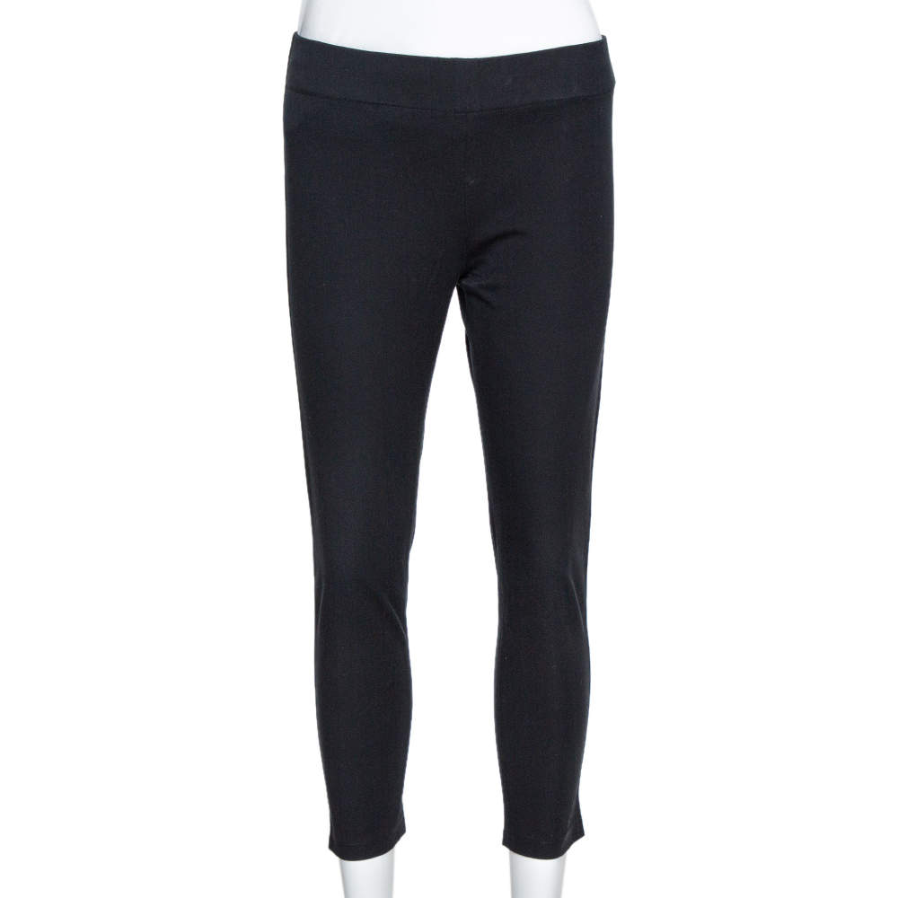 Joseph Black Stretch Light Gabardine Cropped Leggings S