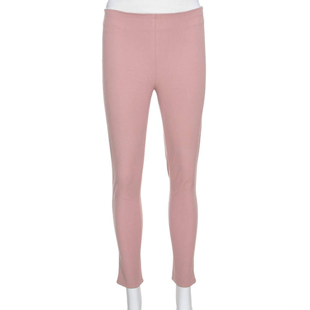 Joseph Light Pink Stretch Gabardine New Tony Cropped Trousers S