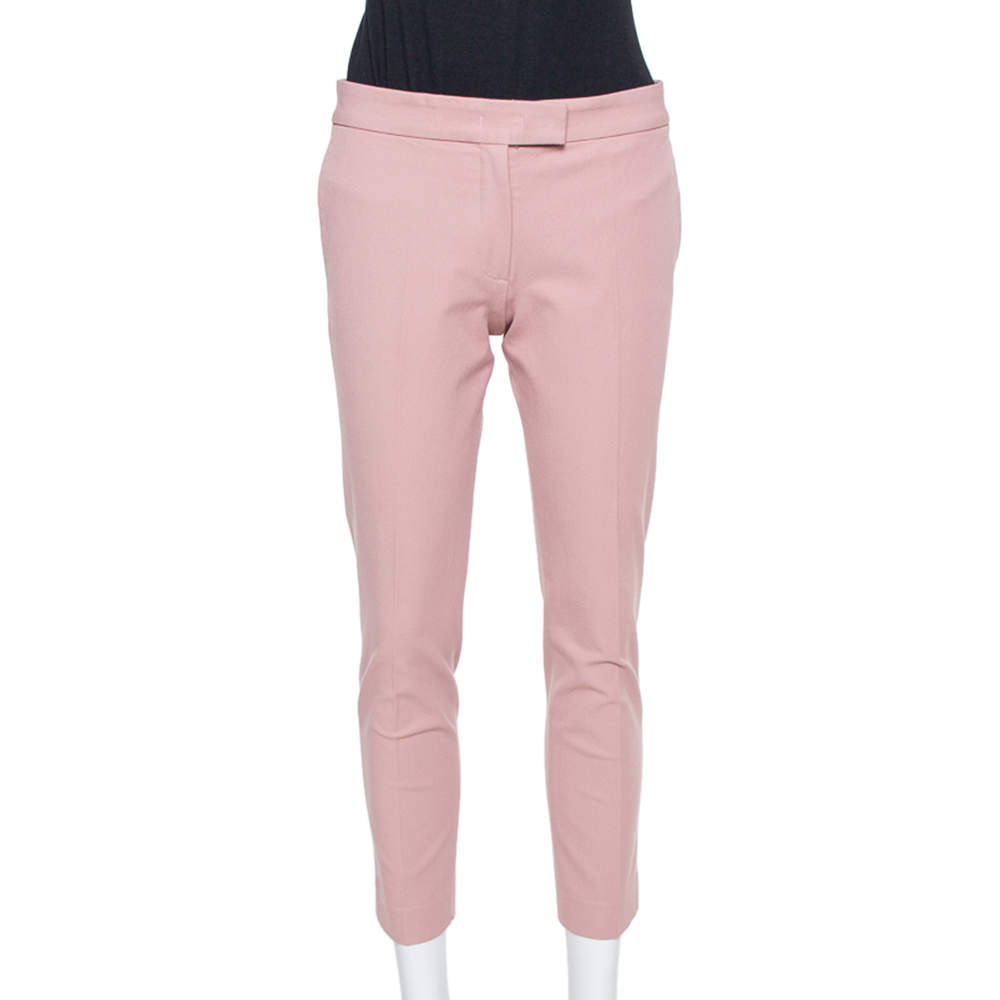 Joseph Blush Pink Stretch Gabardine Queen Cropped Pants S