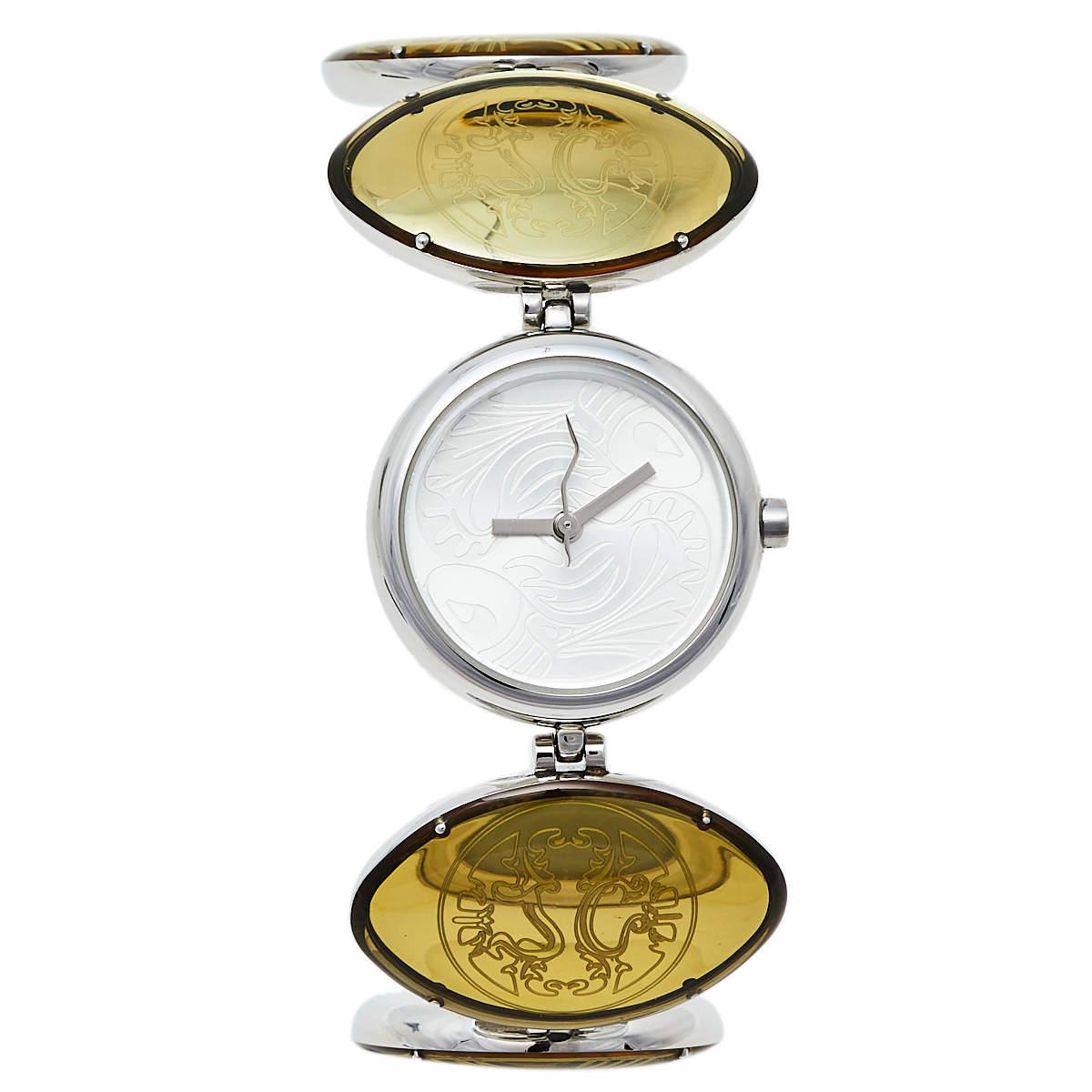 Just Cavalli Silver Stainless Steel Cina 7253785035 Women's Wristwatch 27 mm