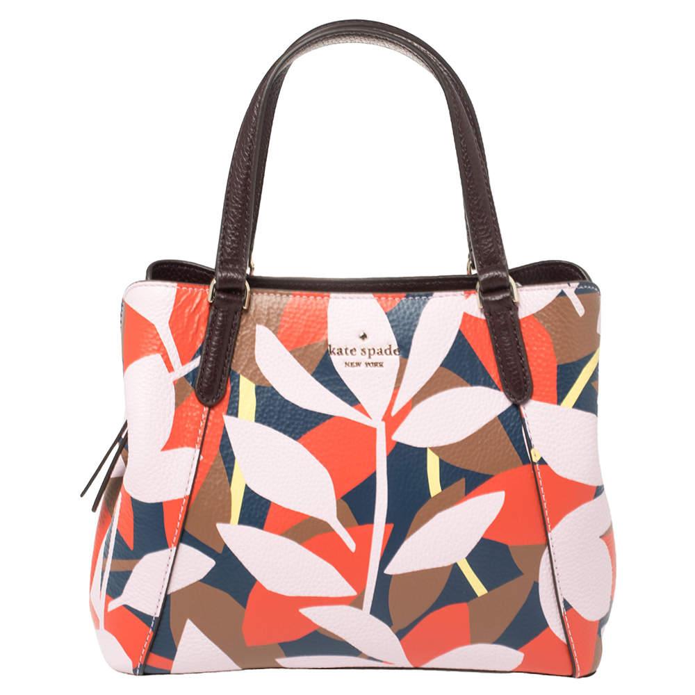 Kate Spade Floral Multicolor Leather Shoulder Bag