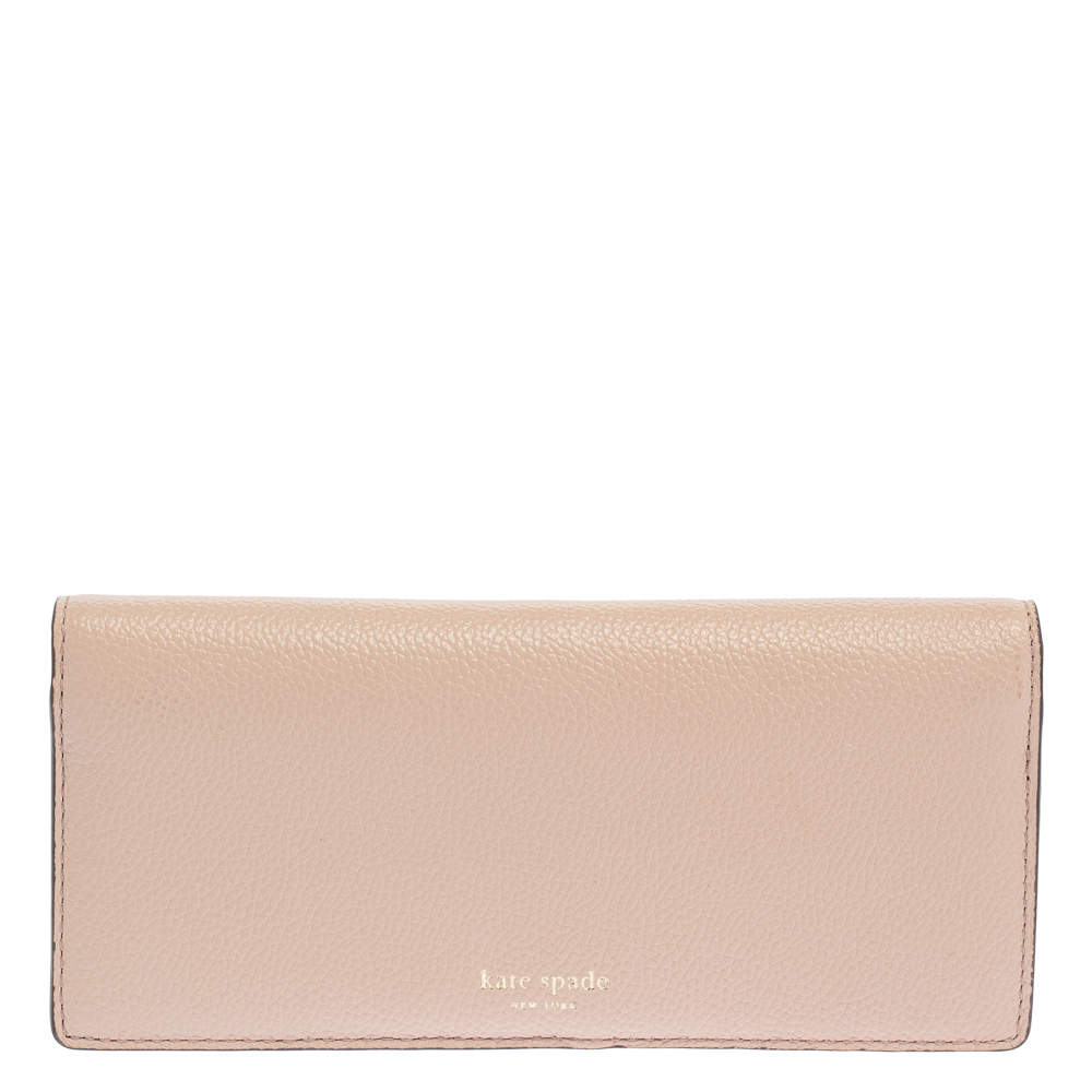 Kate Spade Light Pink Leather Margaux Continental Wallet