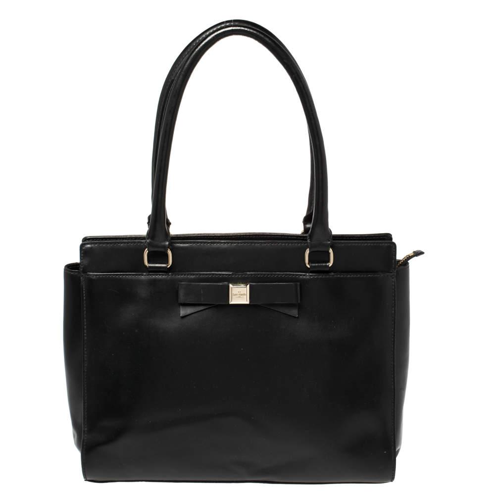 Kate Spade Black Leather Montford Tote