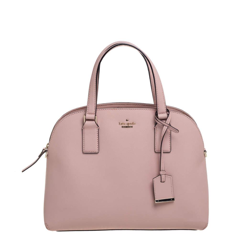 Kate Spade Powder Pink Leather Sylvia Dome Satchel