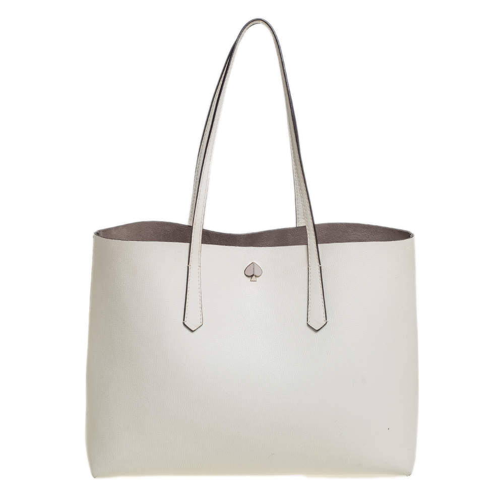Kate Spade Off White Leather Tote