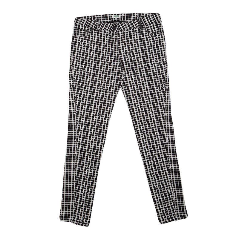 Kenzo Jungle Monochrome Printed Denim Jeans M