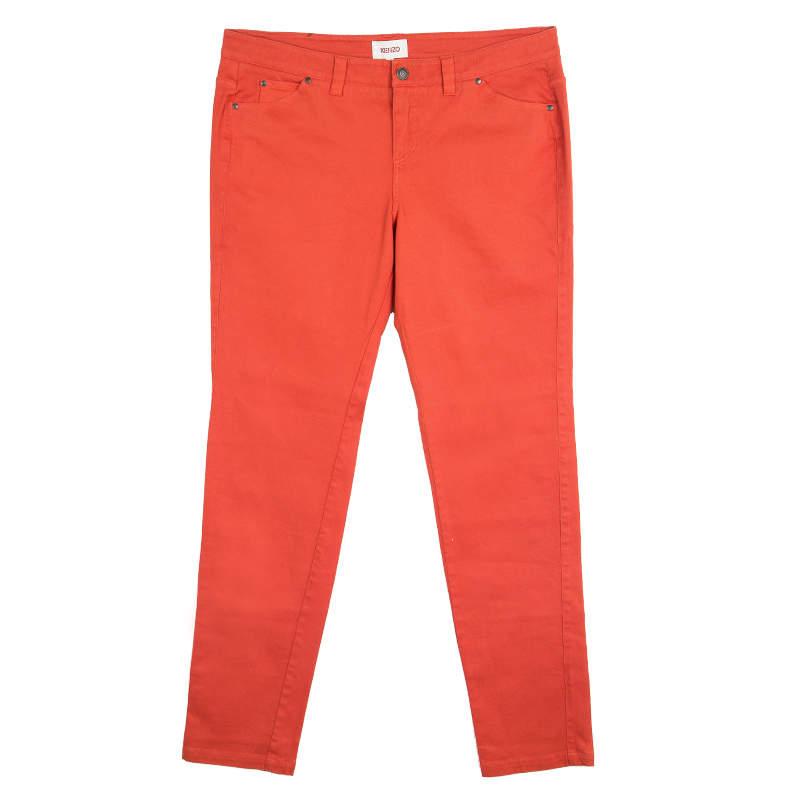 Kenzo Red Denim Straight Fit Jeans L