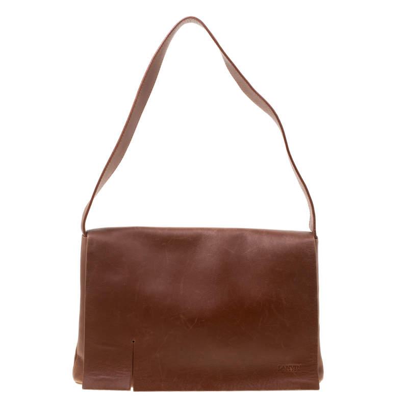Lanvin Brown Leather Shoulder Bag