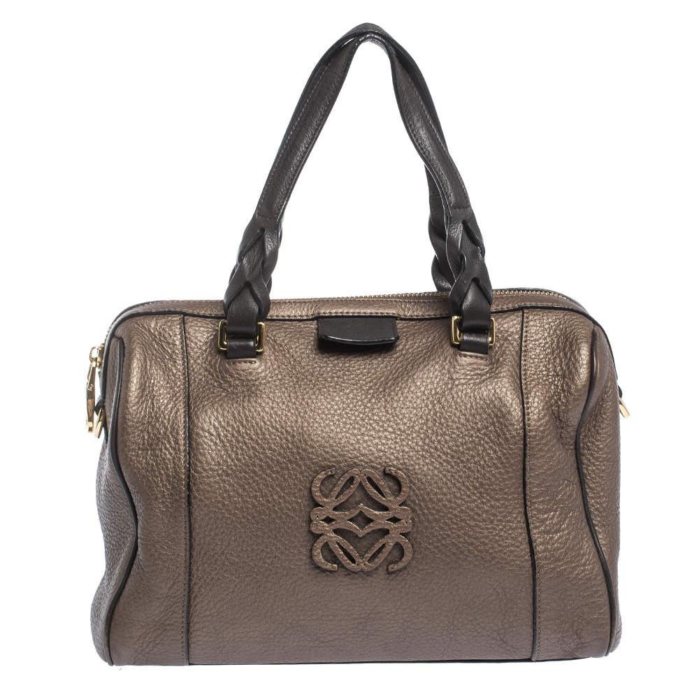 Loewe Brown Leather Fusta 31 Satchel