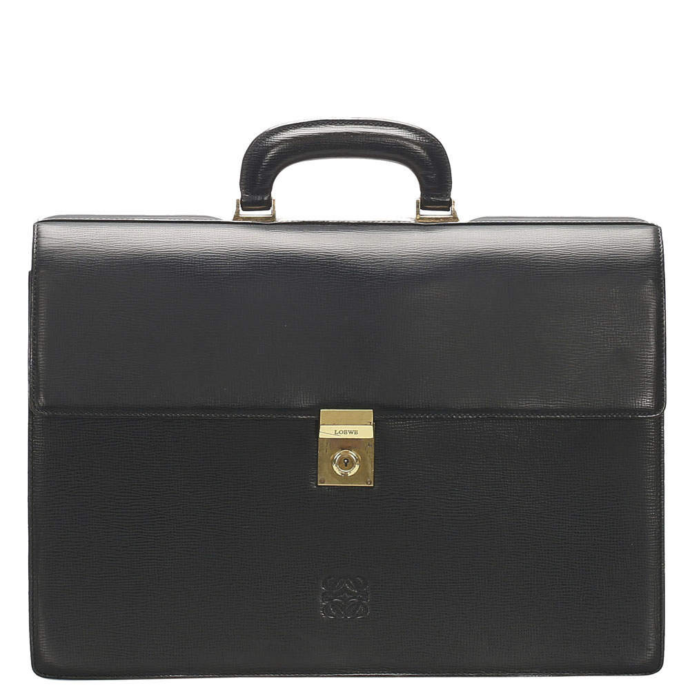 Loewe Black Leather Briefcase