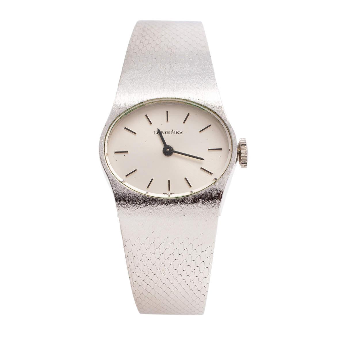 Longines Silver Stainless Steel OR4002-5602 Women's Wristwatch 22 mm