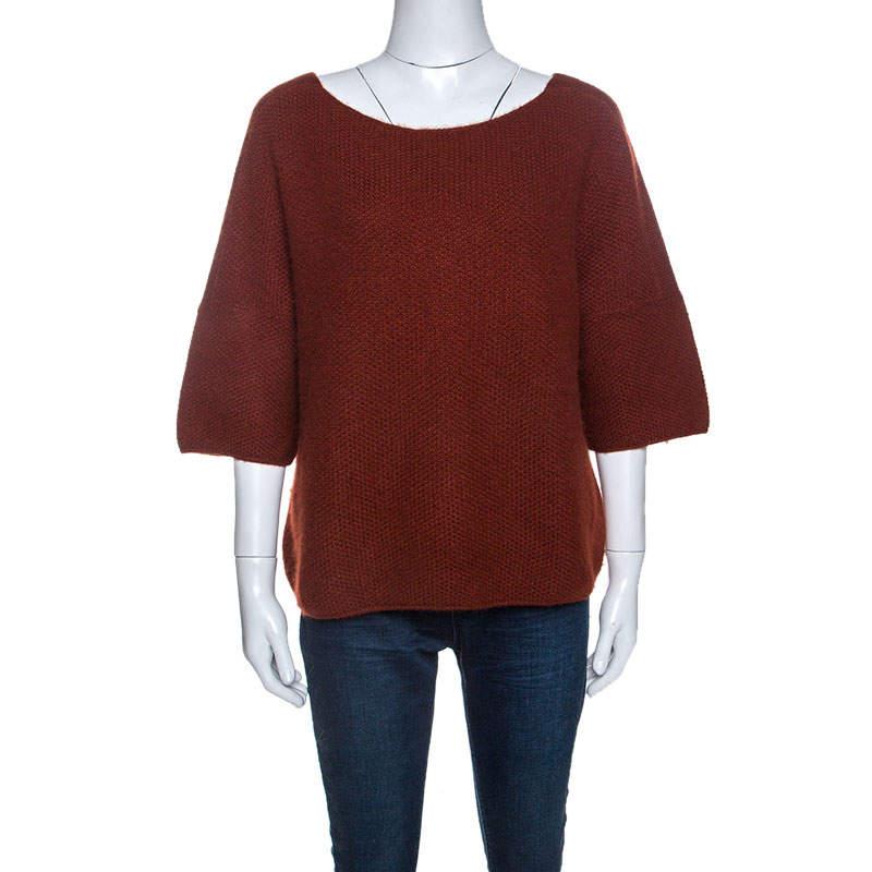 Loro Piana Cinnamon Brown Cashmere Knit Sweater S