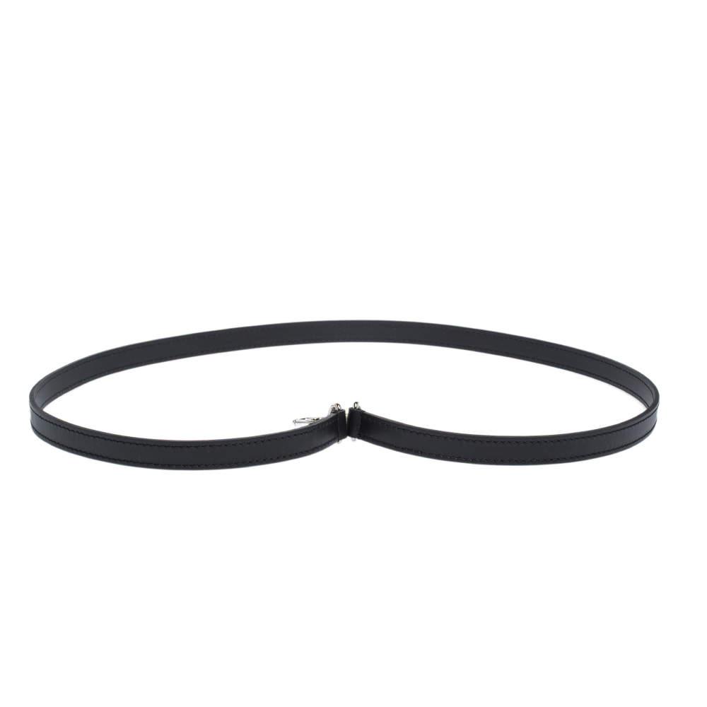 Louid Vuitton Black Leather Shoulder Strap