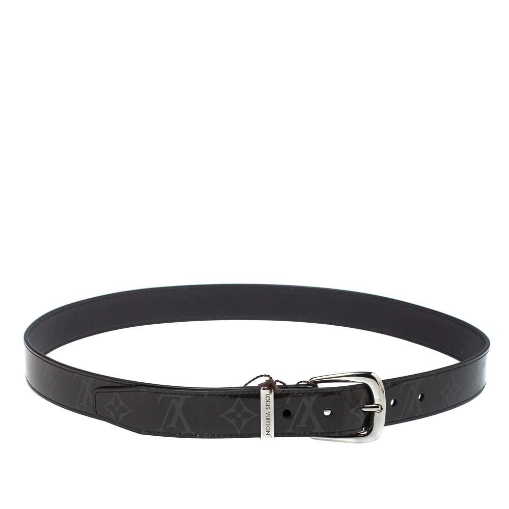 Louis Vuitton Monogram Eclipse Glaze Leather Ouest Belt 95 CM