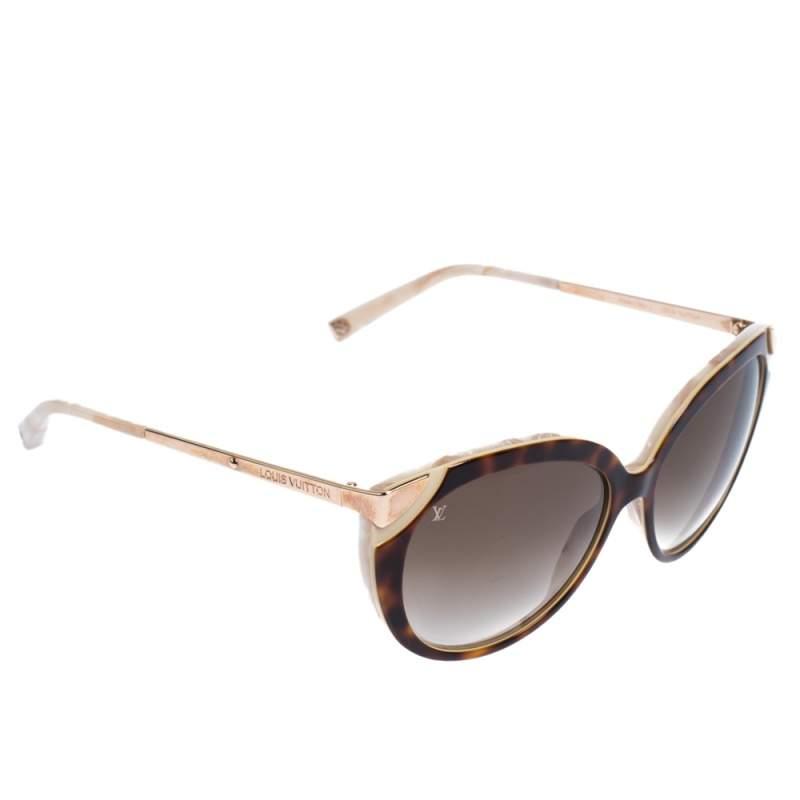 Louis Vuitton Browm/Rose Gold Gradient Cateye Sunglasses