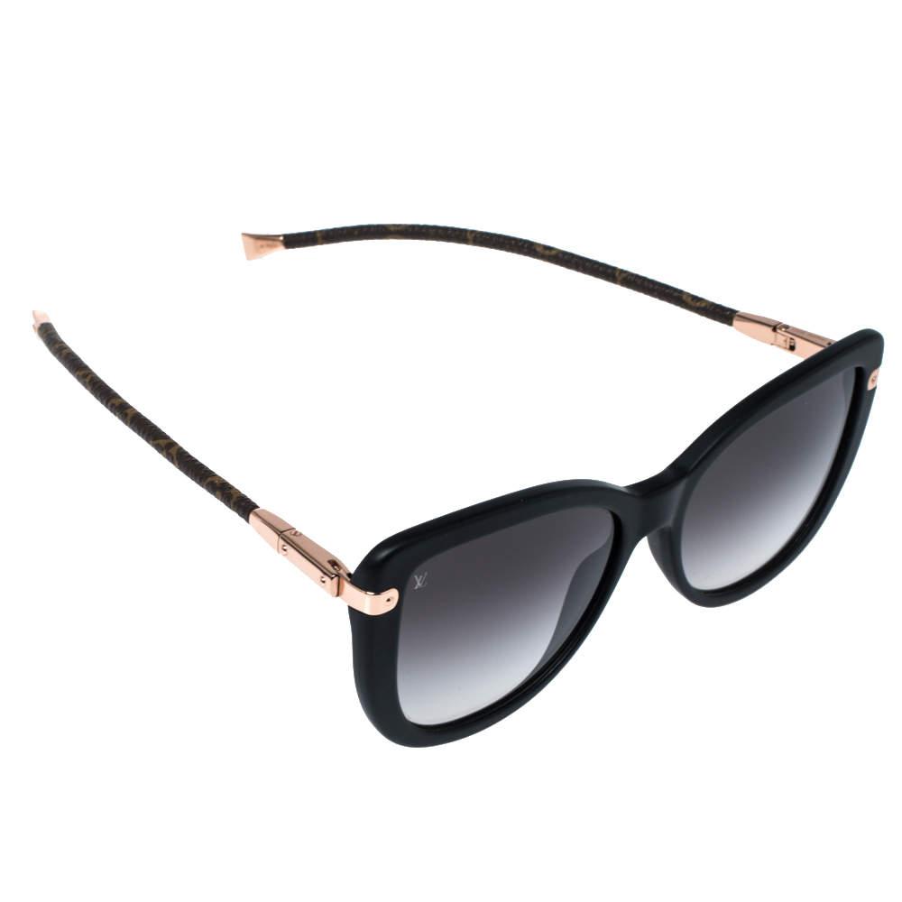 Louis Vuitton Black & Monogram Canvas/ Grey Gradient Z0781W Charlotte Sunglasses