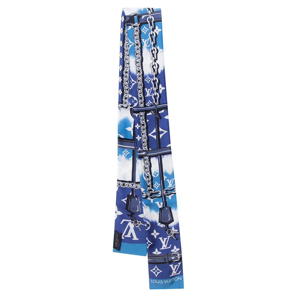 Louis Vuitton Blue Silk Escale Confidential Bandeau