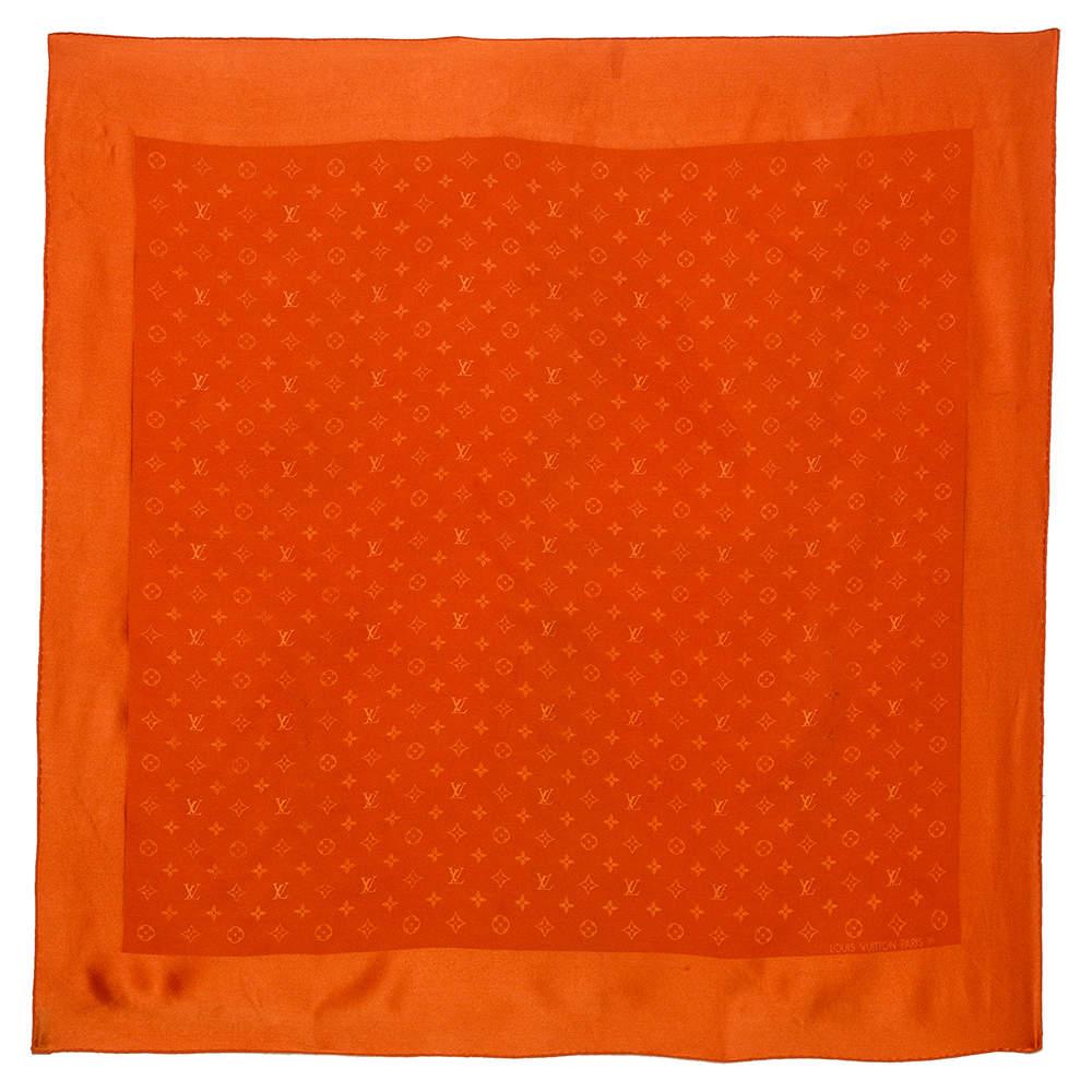 Louis Vuitton Orange Monogram Silk Shawl