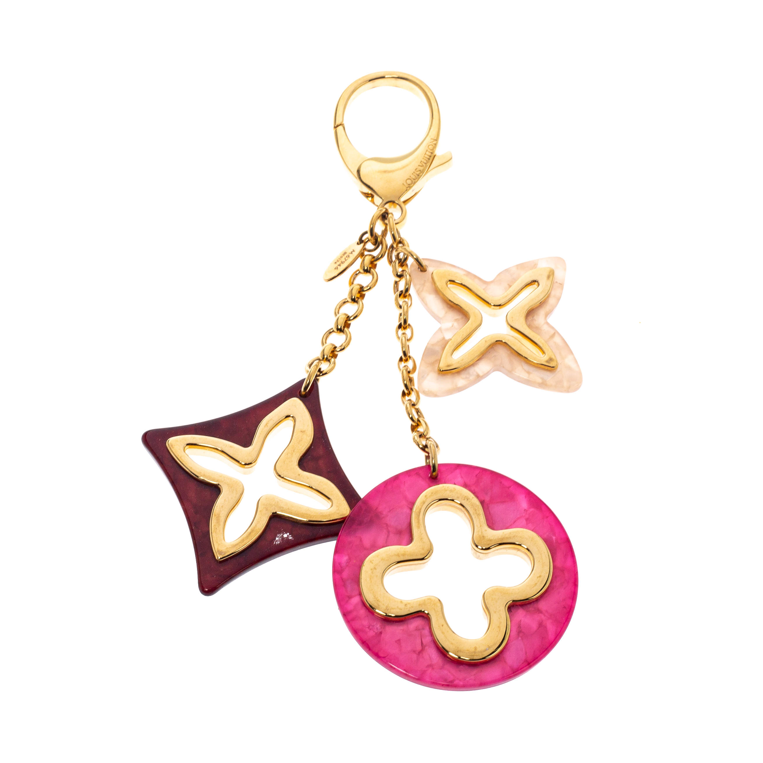 Louis Vuitton Insolence Multicolor Resin Gold Tone Bag Charm