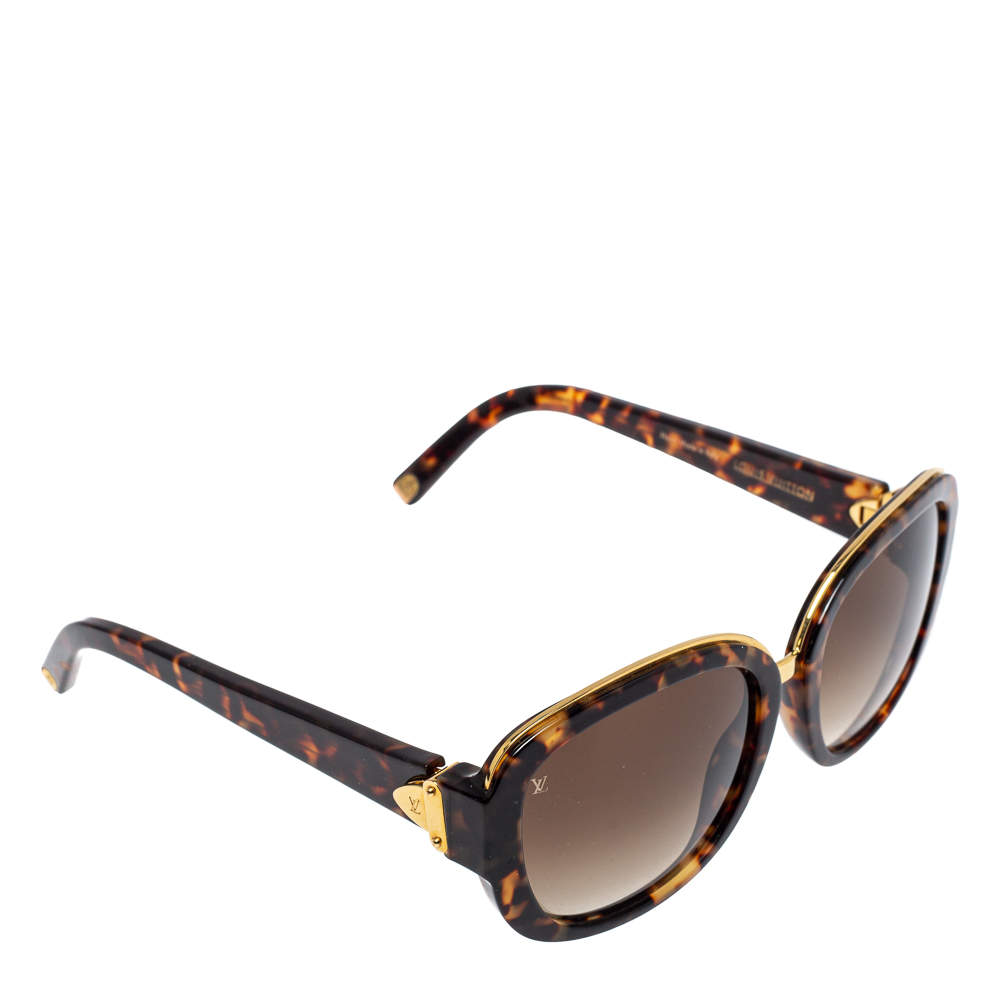 Louis Vuitton Dark Havana/ Brown Gradient Z0633W Soupcon Oval Sunglasses