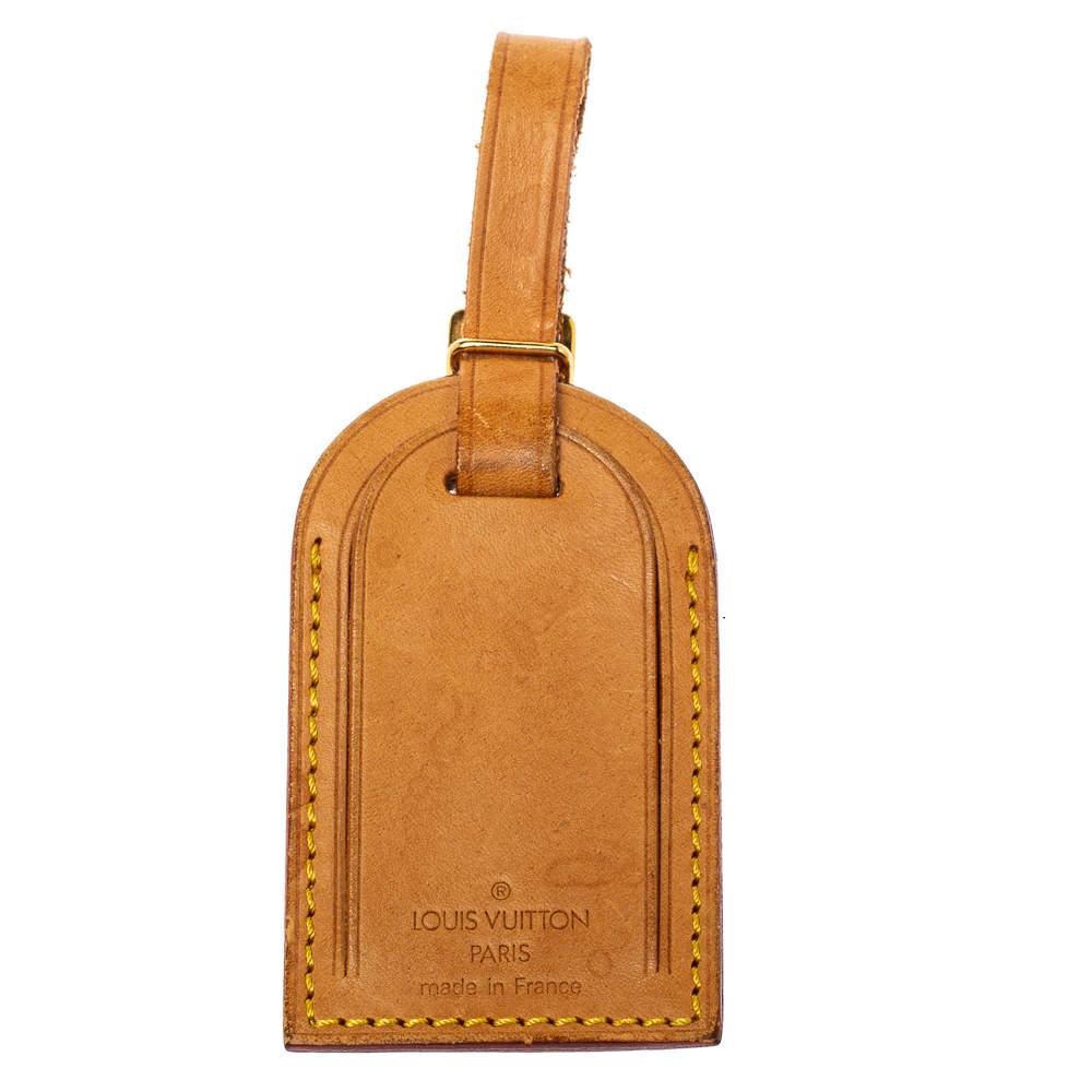 Louis Vuitton Vachetta Leather Luggage Name Tag