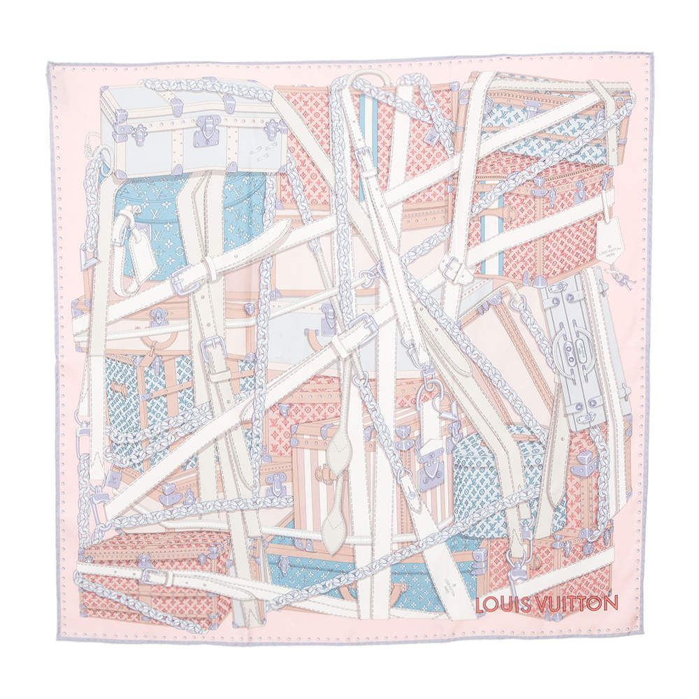 Louis Vuitton Pink That Is A Wrap Silk Square Scarf