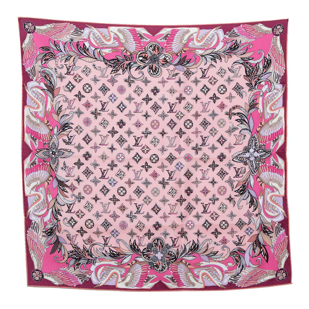 Louis Vuitton Pink Innocence Silk Square Scarf