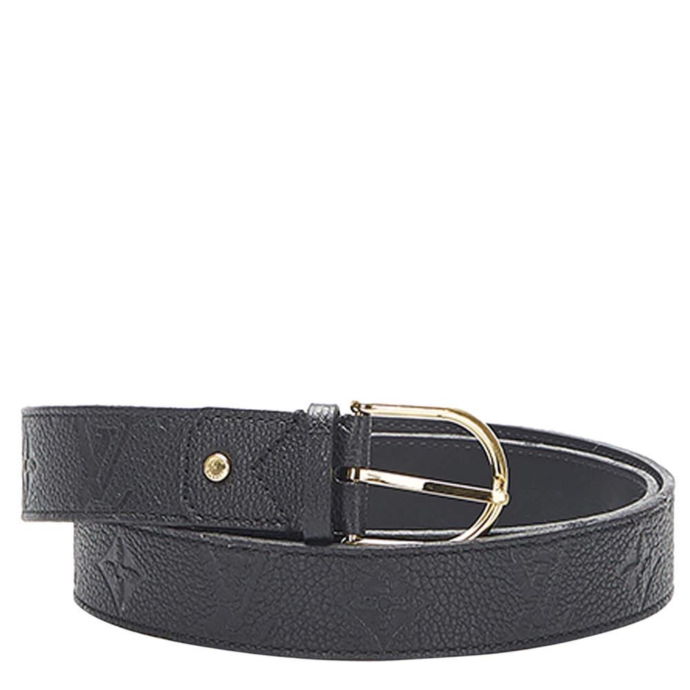 Louis Vuitton Black Monogram Empreinte Leather Belt