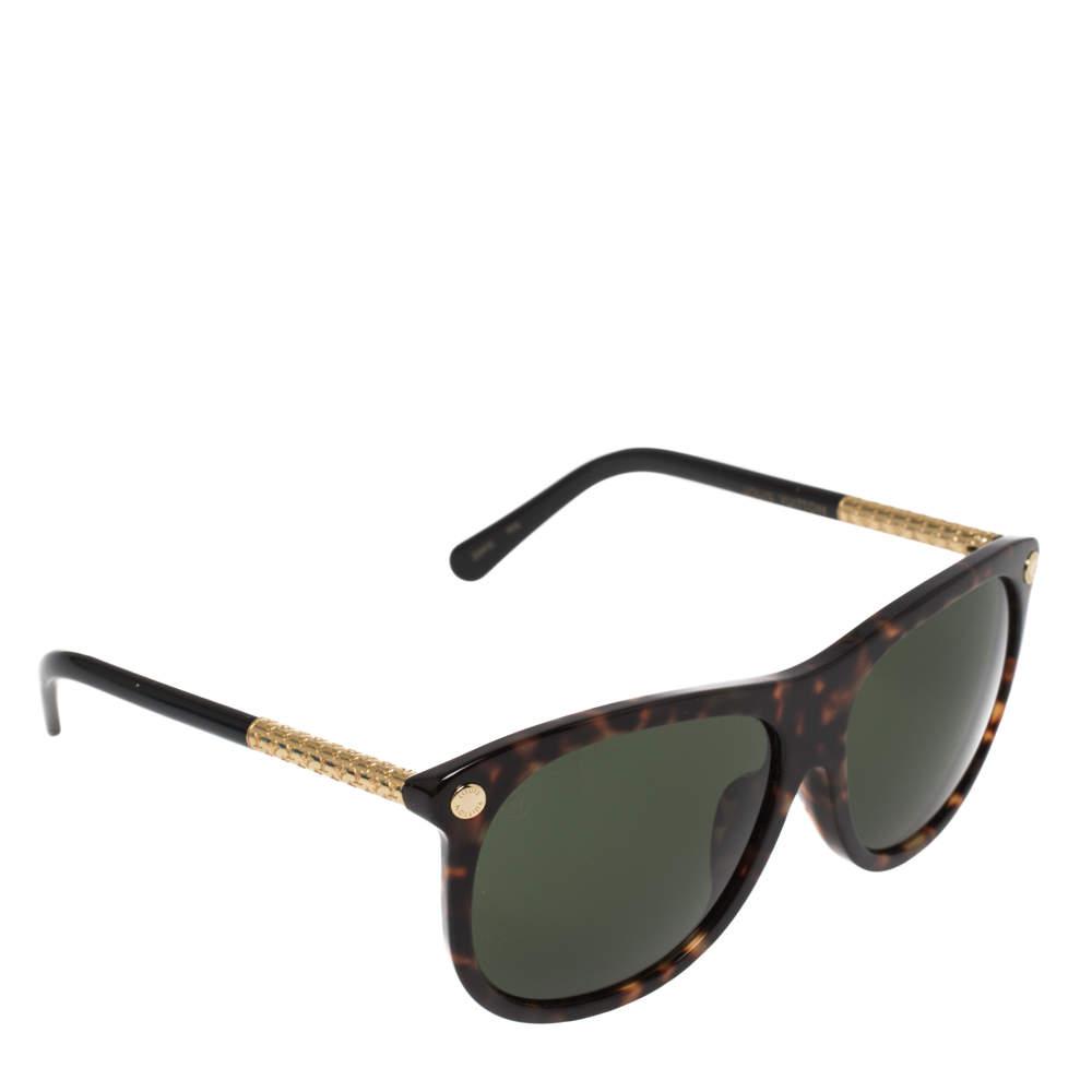 نظارة شمسية لوي فيتون فيرتيغو مربعة Z0893E أخضر / هافانا بني