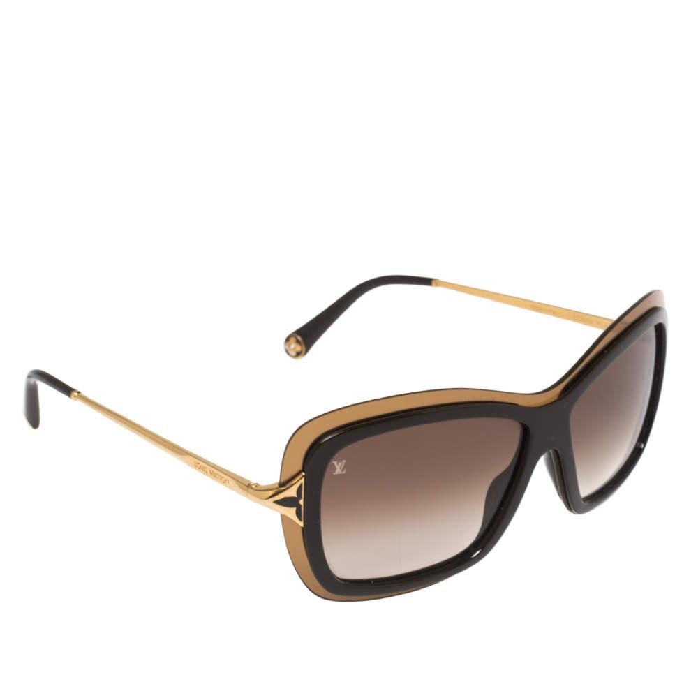 نظارة شمسية لوي فيتون مربعة بوبي زد323دبليو متدرجة بني/ بني