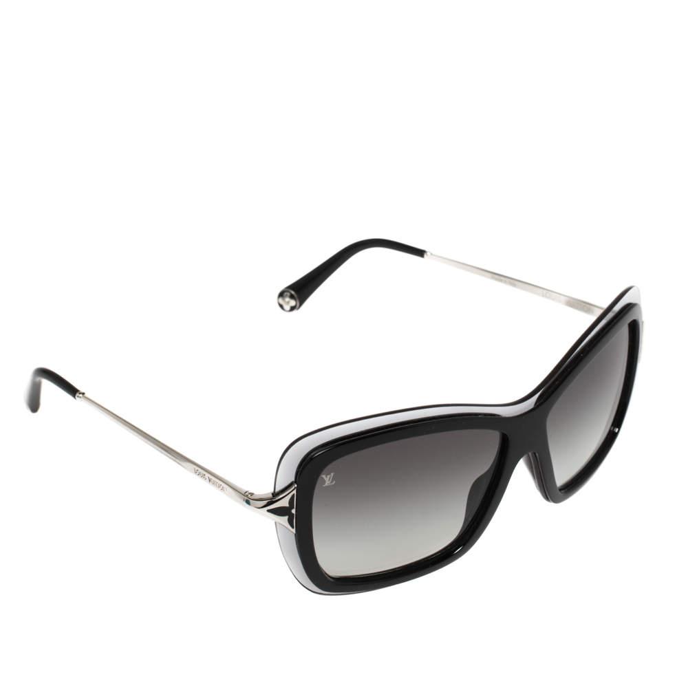 Louis Vuitton Silver/Black Z0493W Poppy Frame Sunglasses