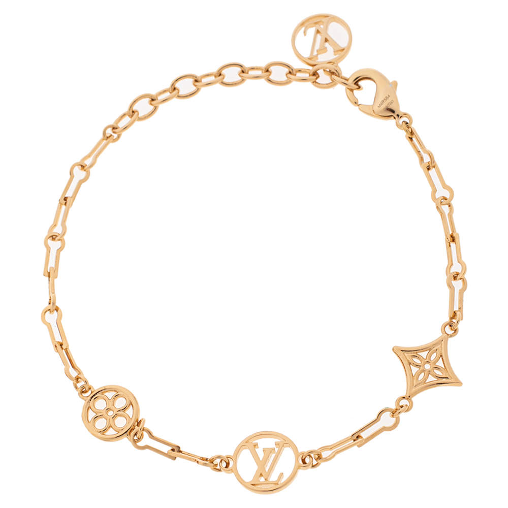 Louis Vuitton Gold Tone Forever Young Bracelet