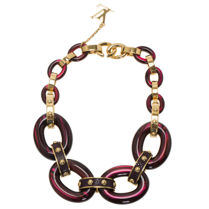 Louis Vuitton Gimme a Clue Resin Necklace