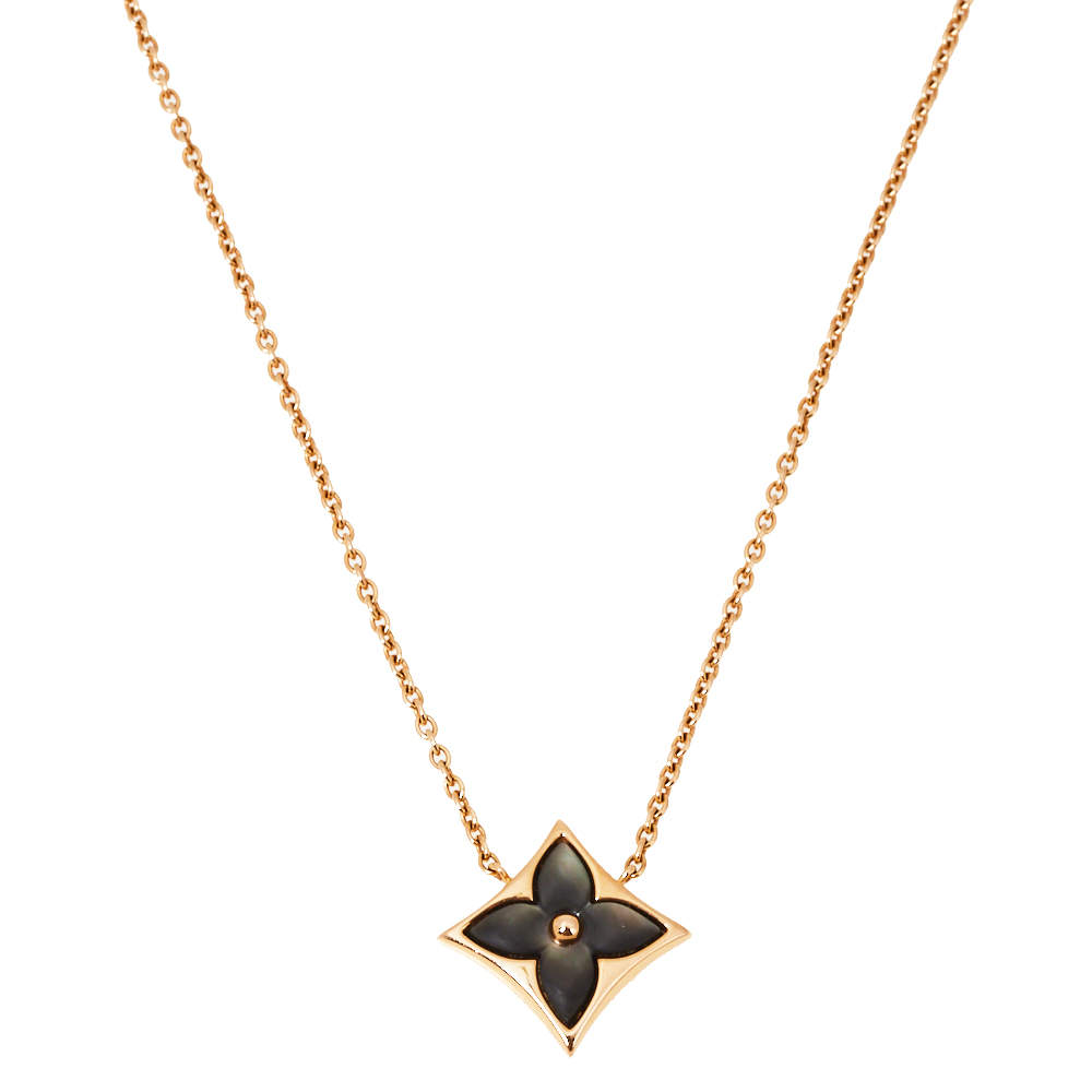Louis Vuitton Color Blossom Star Mother of Pearl 18K Rose Gold Pendant Necklace