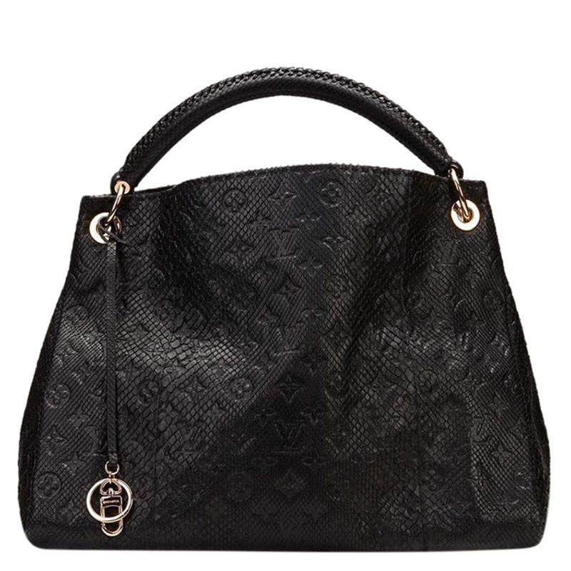 Louis Vuitton Noir Python Limited Edition Artsy MM Bag