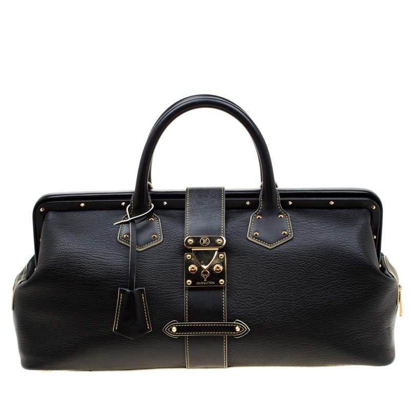 Louis Vuitton Black Suhali Leather L'Ingenieux GM Bag