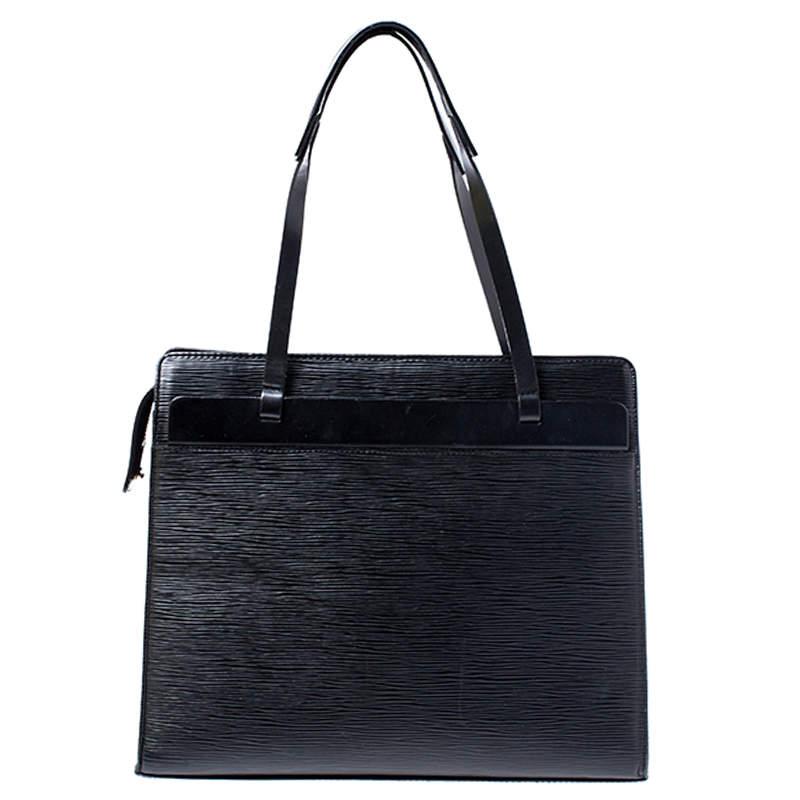 Louis Vuitton Black Epi Leather Croisette PM Bag