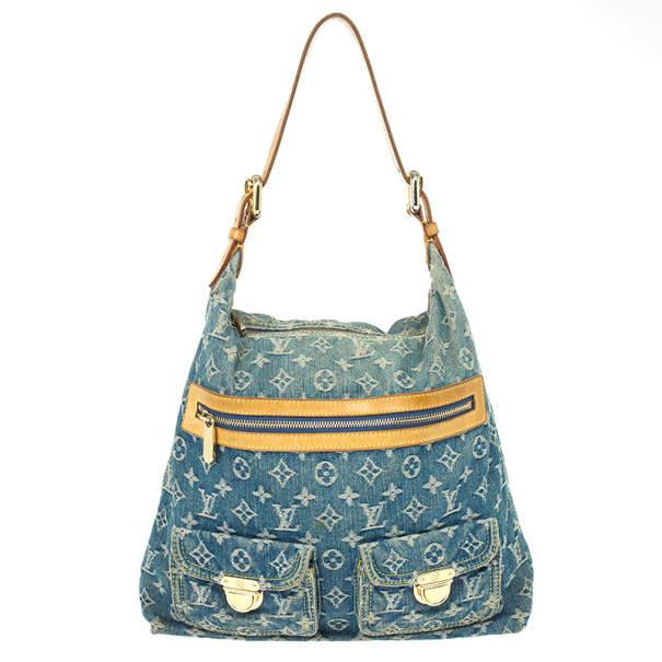 Louis Vuitton Blue Denim Monogram Baggy GM Bag