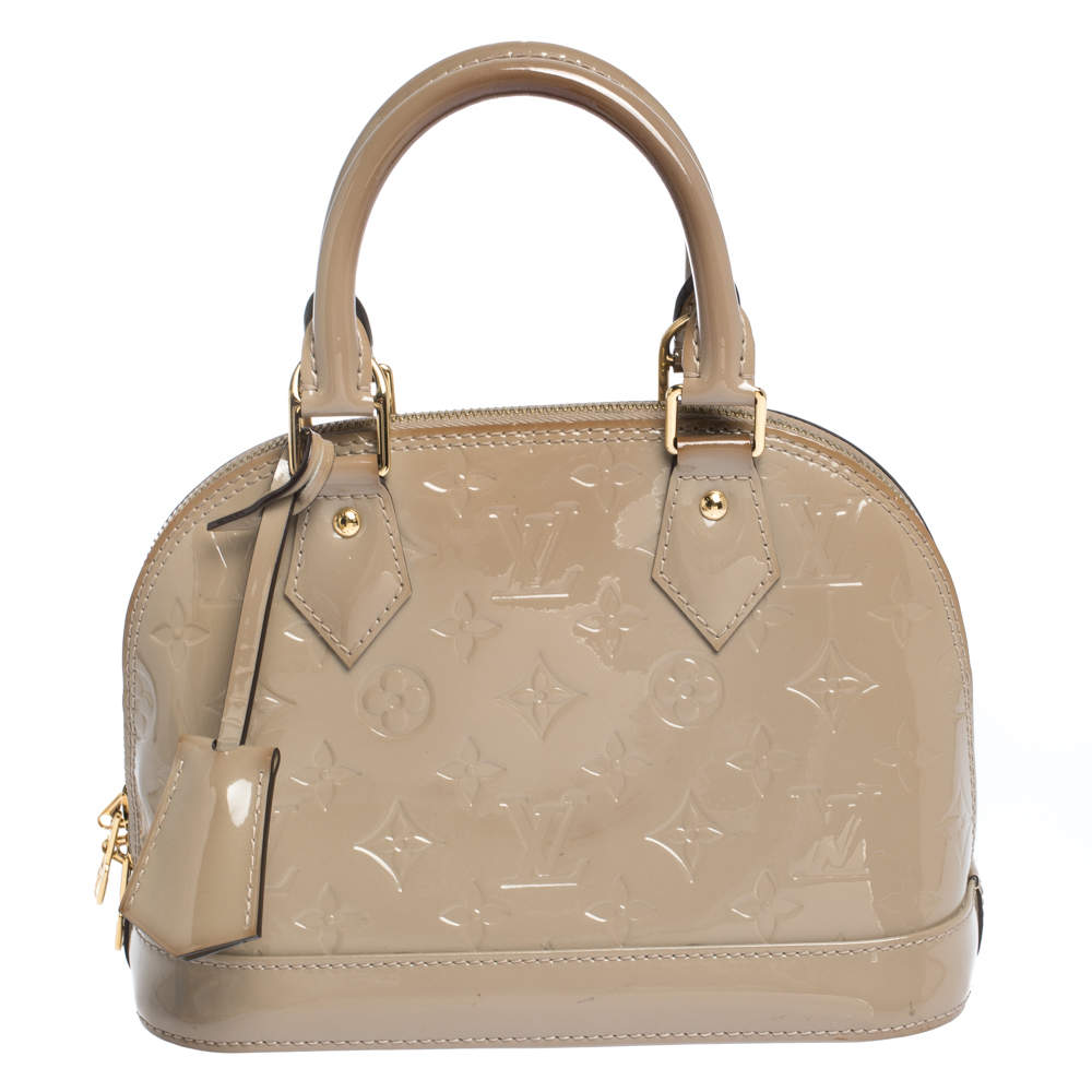 Louis Vuitton Beige Poudre Monogram Vernis Alma Bb Bag Louis Vuitton Tlc
